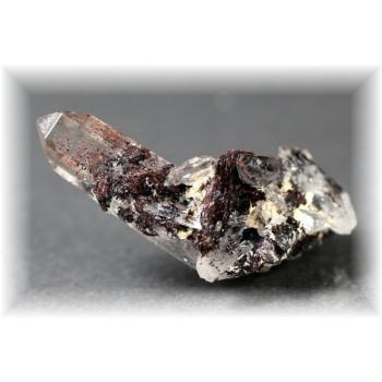 広東省産ヘマタイト&水晶ナチュラルポイント(HEMATITE-QUARTZNP104)