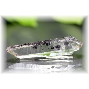 広東省産ヘマタイト&水晶ナチュラルポイント(HEMATITE-QUARTZNP105)