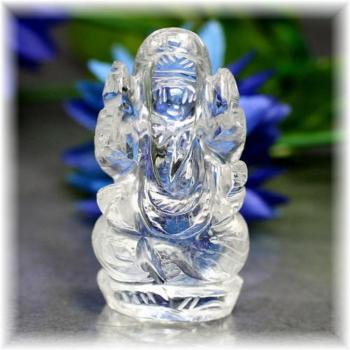 インド産ヒマラヤ水晶ガネーシャ神像(INDIA-GANEZA303IS)