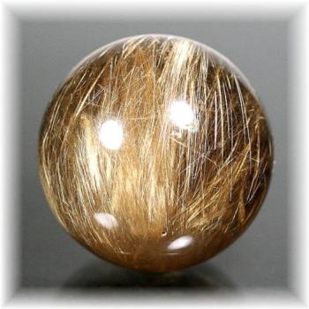 ブラジル産ルチルクォーツ丸玉(RUTILESPHERE-376)