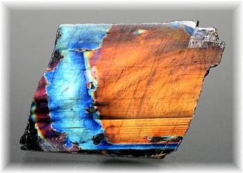 フィンランド産スペクトロライト1面磨き結晶石(SPECTROLITE-JPP105)
